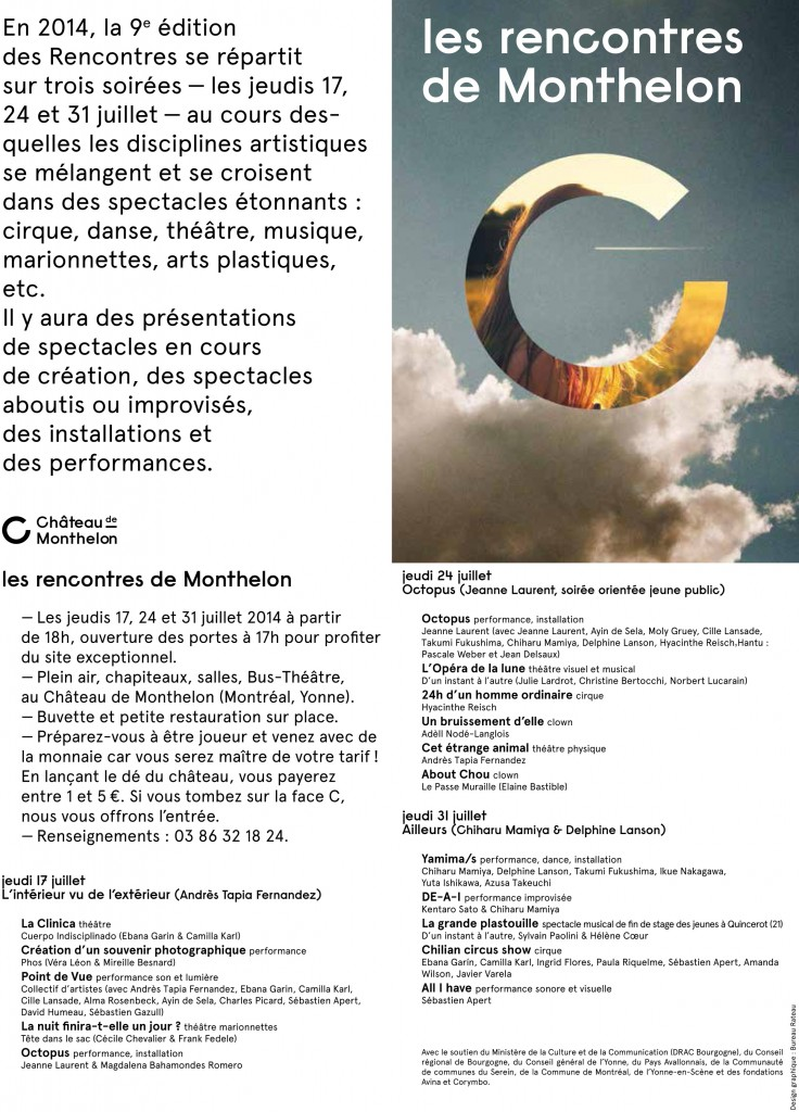 flyer Rencontres de Monthelon 2014